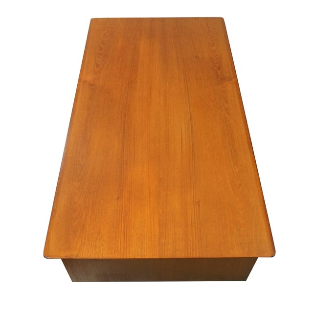Danish Modern Dual Sided 5 Drawer Desk - Image 2 of 8