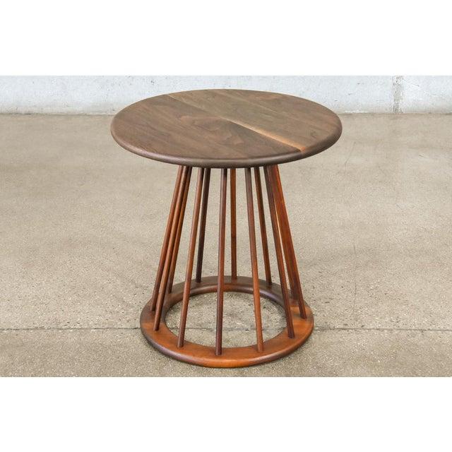 Arthur Umanoff Walnut Spindle Table by Arthur Umanoff For Sale - Image 4 of 4