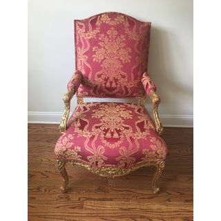 1990s Vintage Sally Sirkin Lewis for J. Robert Scott Louis XV Style Fauteuil Preview
