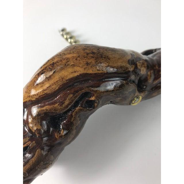 1970s Nautical Driftwood Wine Bottle Opener Corkskrew For Sale - Image 4 of 5