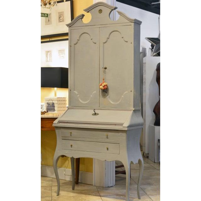 20th Century Italian Provincial Painted Secretary Desk - Image 4 of 11
