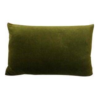 Modern Kravet Versailles Olive Green Velvet Pillow For Sale