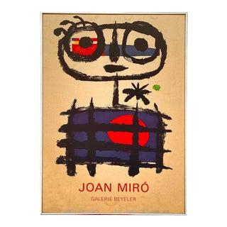 Joan Miro, 1893-1983 Galerie Beyeler 1975 Exhibit Lithograph Mid Century Modern Artwork For Sale