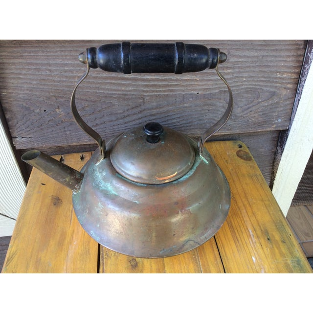 Vintage Copper Tea Kettle with Bakelite Handle - Image 2 of 7