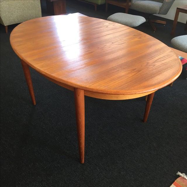 Danish Teak Dining Table - Image 2 of 9