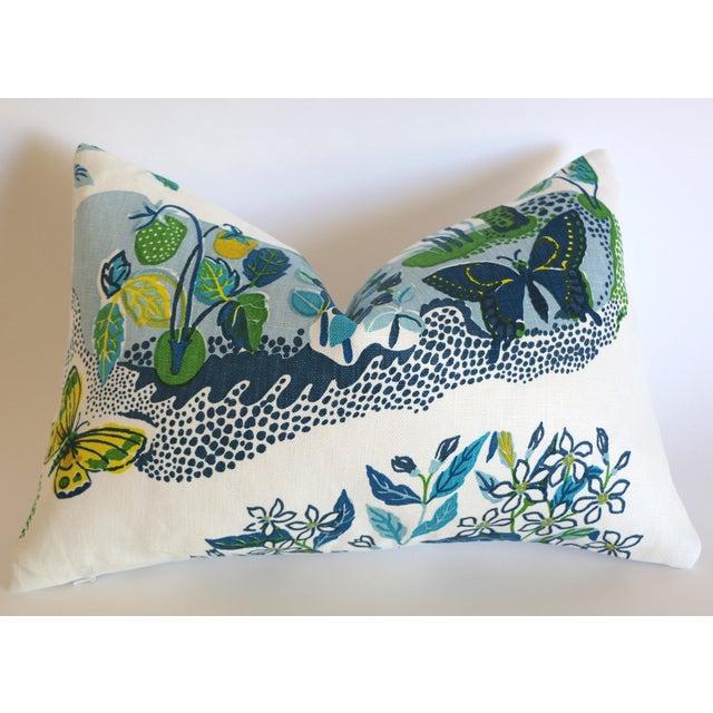 "Illustration Schumacher Citrus Garden ""Pool"" Lumbar Pillow Cover 12x18 For Sale - Image 3 of 4"