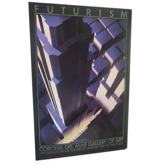 Futurism 1930s Graphic Art Exhibit Poster For Sale