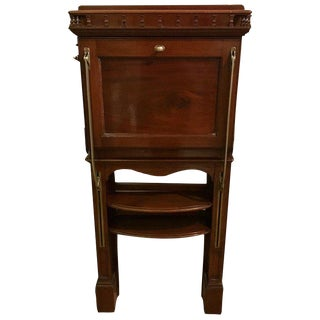 Antique Campaign Style Wall Desk For Sale