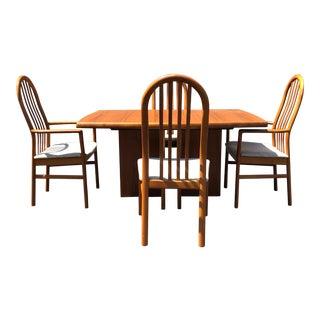 1970s Mid-Century Modern Kai Kristiansen Teak Dining Set For Sale
