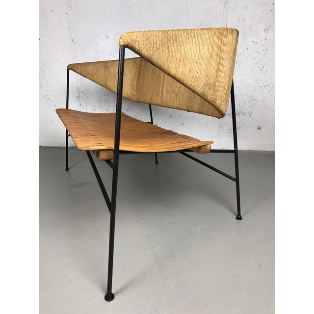 Modernist Settee by Arthur Umanoff for Shaver Howard & Raymor Loveseat Bench Sofa Couch For Sale - Image 10 of 13