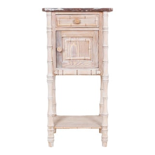 Faux Bamboo Side Table For Sale