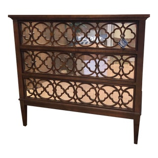 Mahogany Chest With Mirrored Drawers For Sale