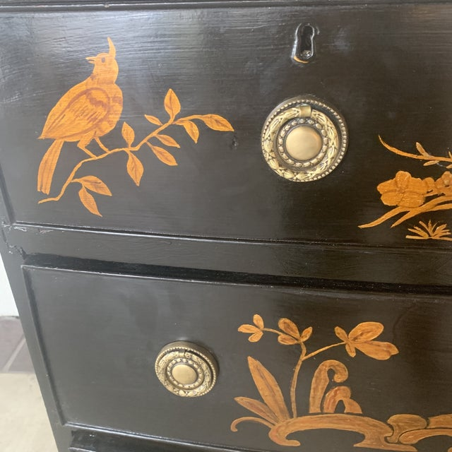 1800s Chinoiserie Bowfront Chest For Sale - Image 4 of 13