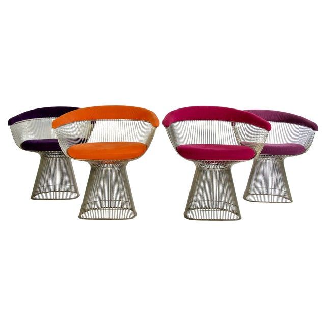 Set of Four Warren Platner Chairs For Sale