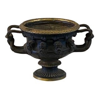 Mid 19th Century Bronze Neoclassical Warwick Vase Urn For Sale