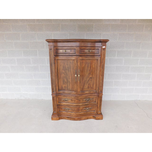 Features Quality Solid Construction, 4 Dovetailed Drawers, with Open Compartments - Approx 35 years old Good Vintage...