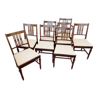 1910s Antique Berkey and Gay Dining Chairs-Set of 8 For Sale