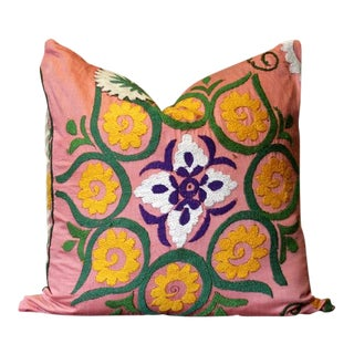 Atika Suzani Square Pillow For Sale