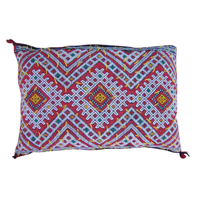 Diamond Design Tribal Berber Pillow - Image 1 of 2