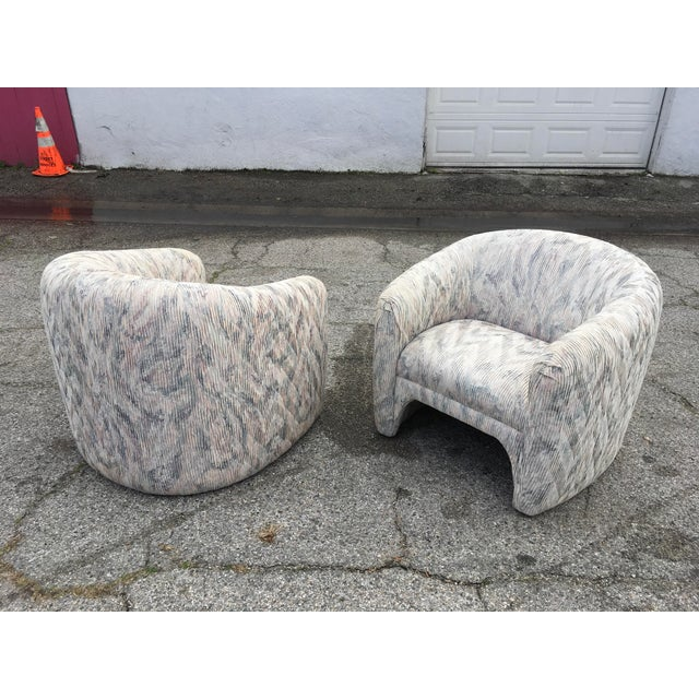 Art Deco 1980s Vintage Sculptural Steve Chase Lounge Chairs- A Pair For Sale - Image 3 of 13