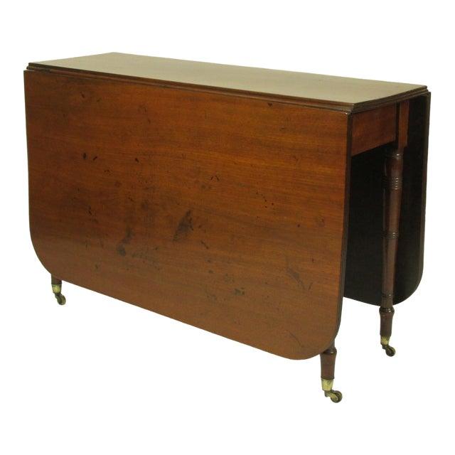 19th Century Regency Drop Leaf Mahogany Table For Sale