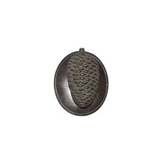 Country Bronze Pine Cone Door Knocker For Sale