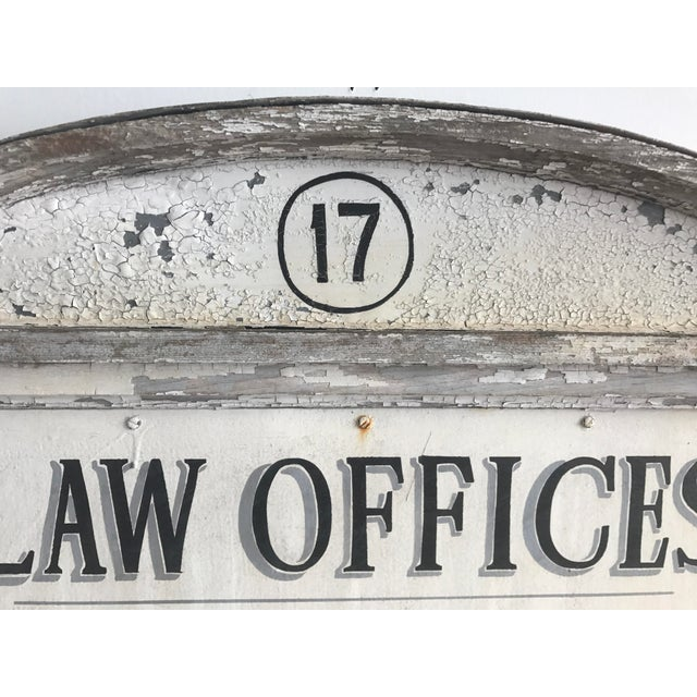 Vintage wooden law office sign. Solid with distressed paint.