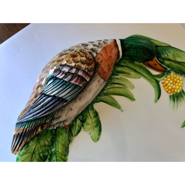 Large Italian pottery duck platter.