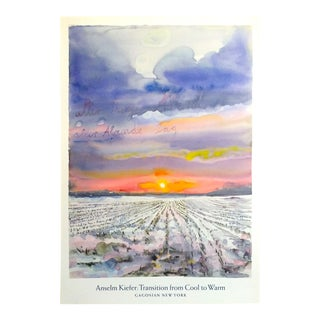 """Anselm Kiefer """" Transition From Cool to Warm """" Lmtd Edtn Lithograph Print Gagosian Gallery Exhibition Poster For Sale"""