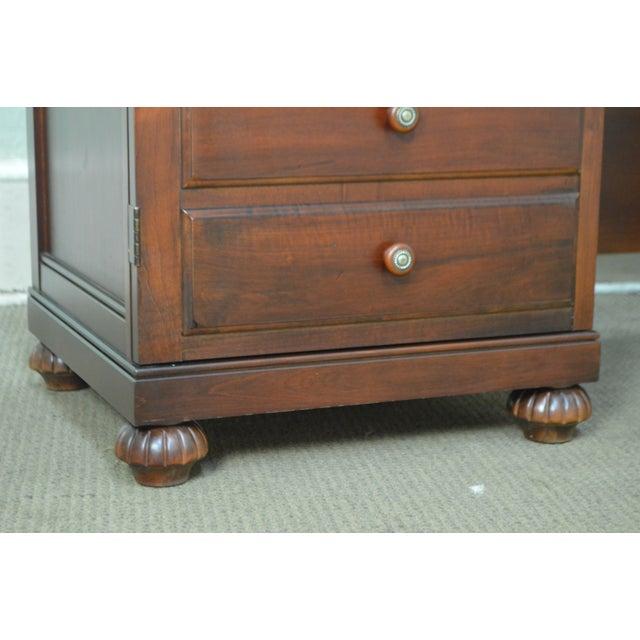 Brown Ethan Allen British Classics Office Desk Credenza W/ Hutch Top For Sale - Image 8 of 13