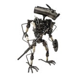 Image of Heavy Gauge Scrap Metal Kinetic Robot Sculpture For Sale