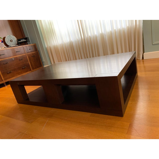 Wood Christian Liaigre Contemporary Walnut Coffee Table For Sale - Image 7 of 13