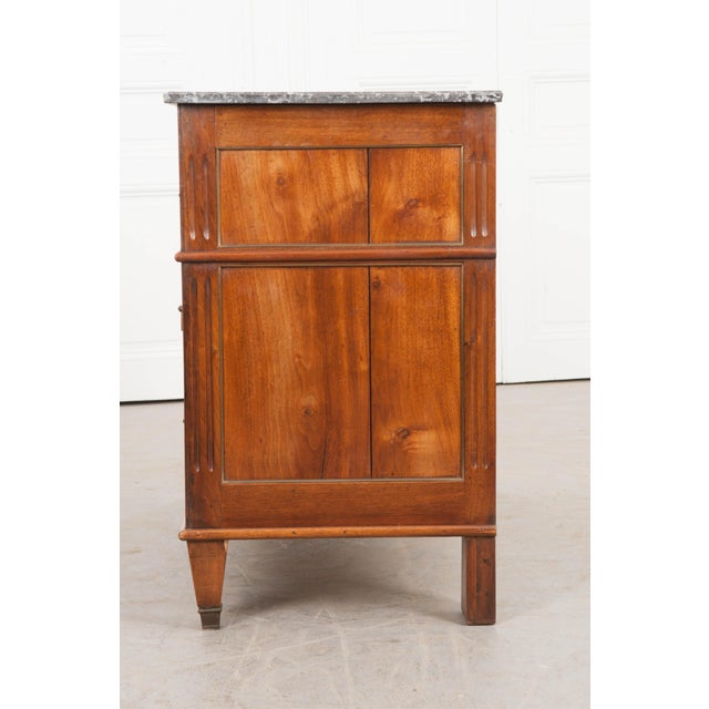 Belgian French Early 19th Century Louis XVI Style Walnut Commode For Sale - Image 3 of 12
