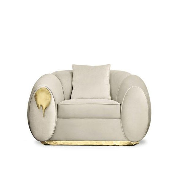 Modern Soleil Armchair From Covet Paris For Sale - Image 3 of 5