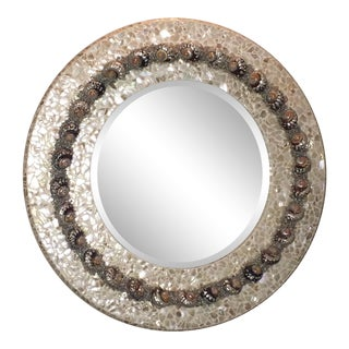 Large Abalone Shell Mirror