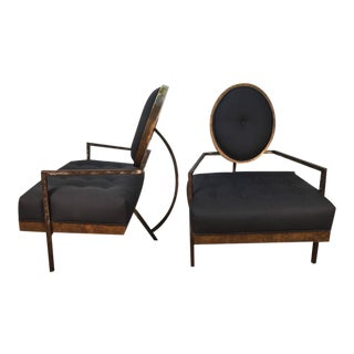 French Modern Club Chairs - a Pair For Sale