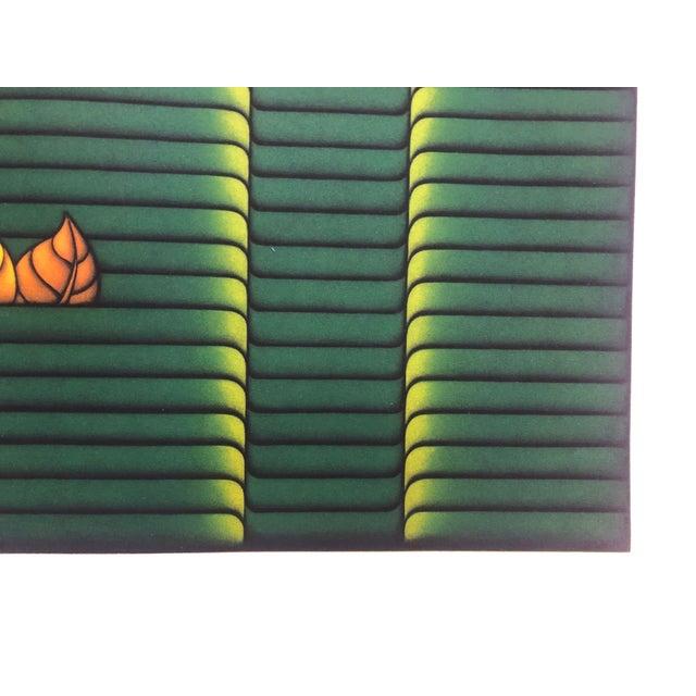 "1980s Kazuhisa Honda Mezzontint ""Two Leaves"" 1980s For Sale - Image 5 of 6"