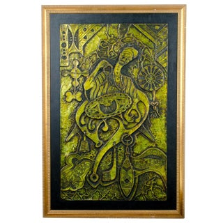 """Divination"" Nigerian Metal Relief For Sale"