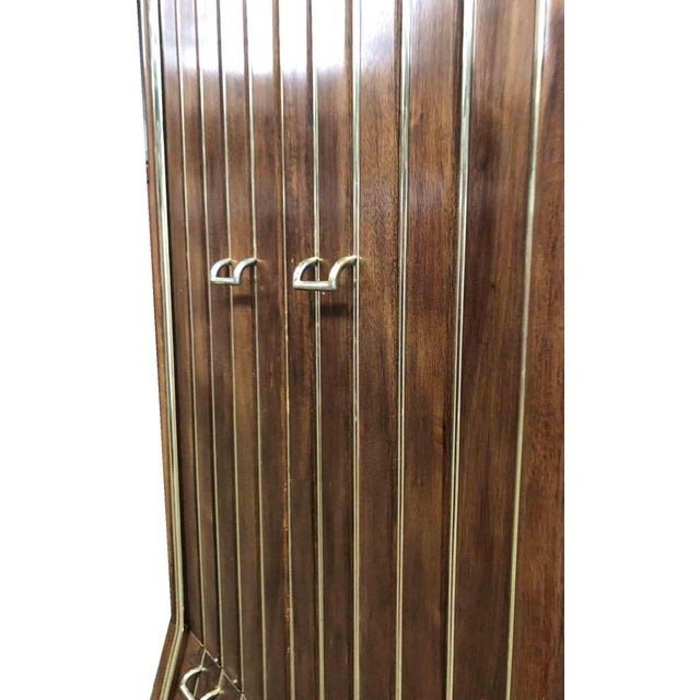 1960s Mid-Century Modern Brass Pinstripe Chifforobes by American of Martinsville - A Pair For Sale In Chicago - Image 6 of 10