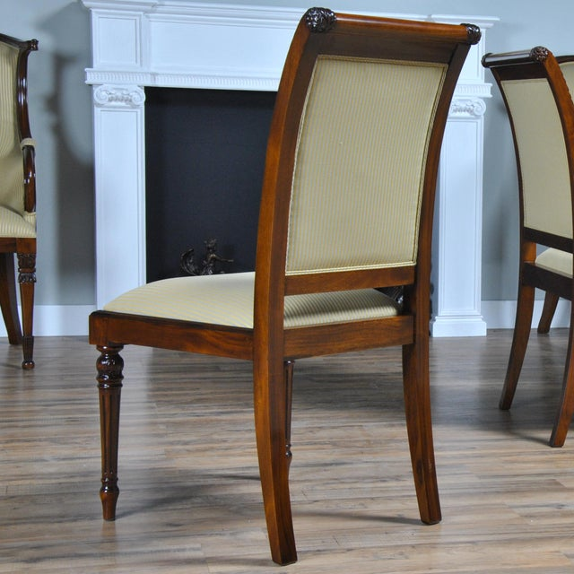 Empire Upholstered Side Chair For Sale - Image 6 of 8