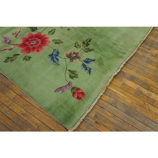 Art Deco Chinese Art Deco Rug-8′8″ × 11′4″ For Sale - Image 3 of 7