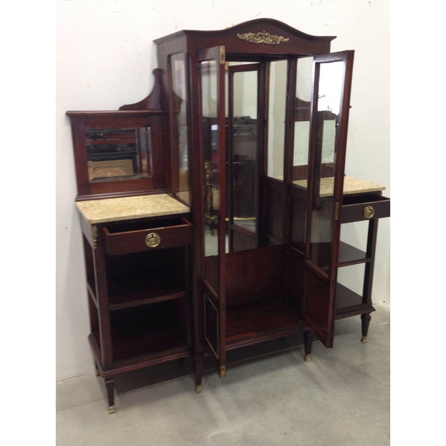 Modernist Vitrine with Two Shelves on the Sides For Sale - Image 4 of 9
