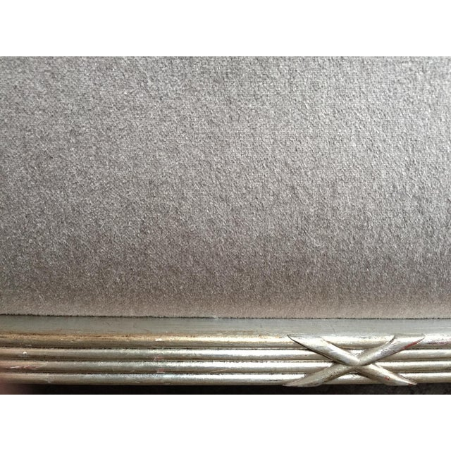 Gray 1960s Silver Mohair Lounge Chair in the Style of James Mont For Sale - Image 8 of 13