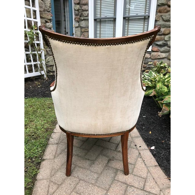 1930's French Accent Chairs - aPair For Sale - Image 4 of 4