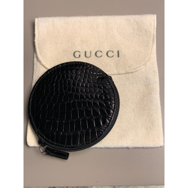 Gucci Gucci Shiny Black Alligator Coin Purse Never Used For Sale - Image 4 of 5