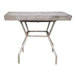Rustic Concrete/Stone Console Table For Sale