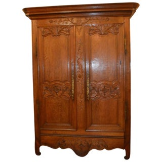 Early 19th Century Hand-Carved Armoire from France