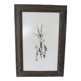 """Antelope"" Watercolor Painting by African Conservationist Clive Walker For Sale"