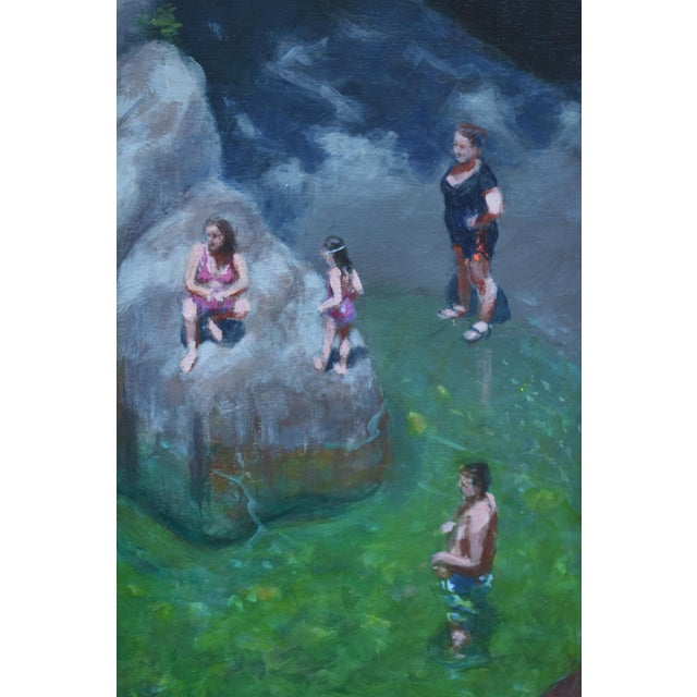 2010s Vermont Swimming Hole Contemporary Painting by Stephen Remick For Sale - Image 5 of 12