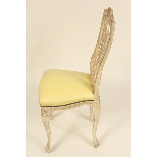 French 1950s Vintage Continental Louis XV Style Dining Room Chairs- Set of 8 For Sale - Image 3 of 13